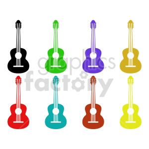 clipart - guitar set vector clipart.