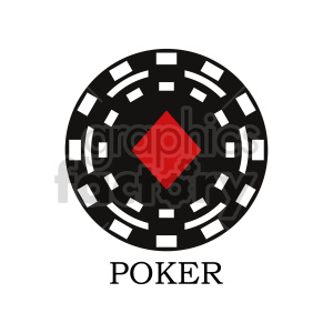 poker chip vector clipart 09 clipart. Commercial use image # 415849