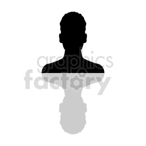silhouette of African American male head clipart clipart. Commercial use image # 415860