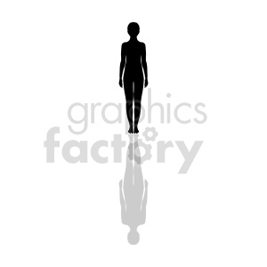 silhouette womans body clipart