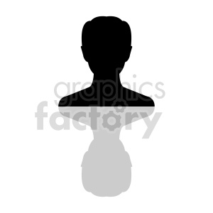 silhouette of senior male head clipart clipart. Commercial use image # 415864