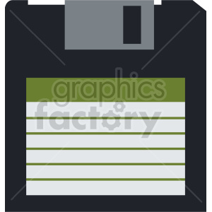 clipart - floppy storage disk icon vector clipart.