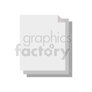 document flat icon vector clipart. Commercial use image # 415897