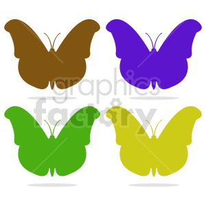 butterfly silhouette vector clipart 012 clipart. Commercial use image # 415923