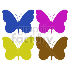 butterfly silhouette vector clipart 011 clipart. Commercial use image # 415948