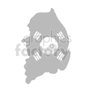 South Korea gray vector clipart clipart. Commercial use image # 416048