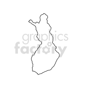 finland outline vector clipart clipart. Commercial use image # 416064