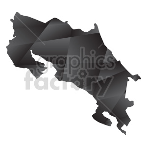 Costa Rica geometric vector clipart clipart. Commercial use image # 416084
