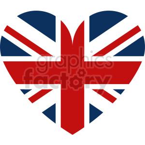 clipart - Great Britain heart vector clipart.