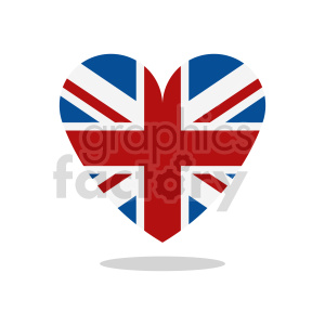 clipart - Great Britain heart vector clipart with shadow.