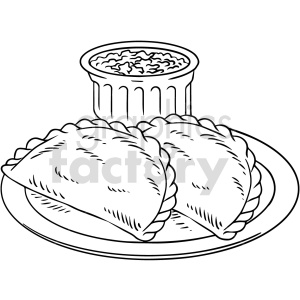 black and white empa taco vector clipart clipart. Commercial use image # 416119