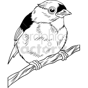 black and white little bird vector clipart clipart. Commercial use image # 416172