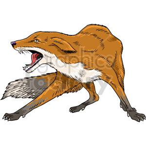 fox vector graphic illustration clipart. Commercial use image # 416179