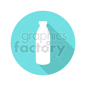 milk bottle vector icon clipart. Commercial use image # 416211