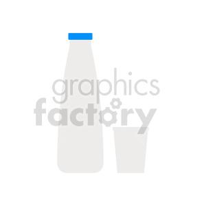 milk bottle vector clipart clipart. Commercial use image # 416212