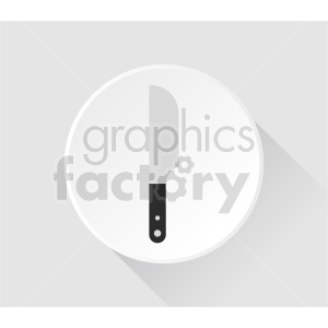 kitchen knife on plate vector clipart clipart. Commercial use image # 416257