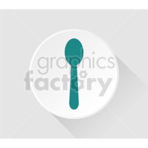 plate and spoon vector clipart clipart. Commercial use image # 416262