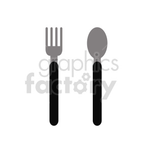 fork and spoon vector clipart clipart. Commercial use image # 416286