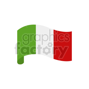 italy flag blowing clipart clipart. Commercial use image # 416297