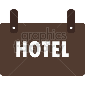 hotel sign icon clipart. Commercial use image # 416336