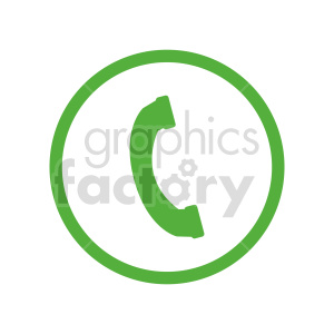 telephone vector icon clipart. Commercial use image # 416377