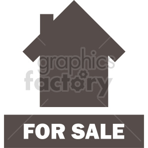 house for sale clipart clipart. Commercial use image # 416476