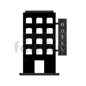 hotel vector clipart clipart. Commercial use image # 416526