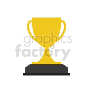 trophy vector icon clipart. Commercial use image # 416559