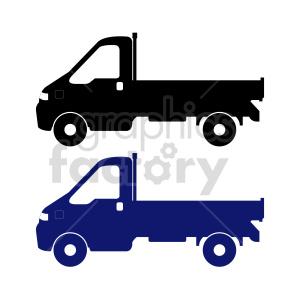 clipart - flatbed truck vector clipart set.