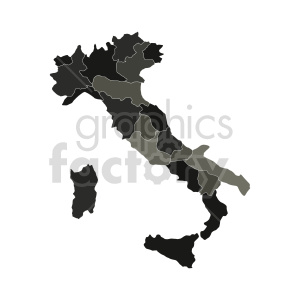 clipart - gray italy vector graphic.