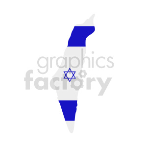 clipart - israel country flag vector design.