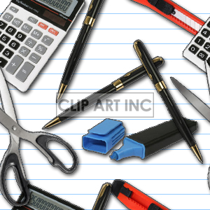 103005-office-supplies clipart. Commercial use image # 128211