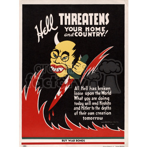Devil(Hitler) With a Bloody Knife clipart. Royalty-free image # 152907