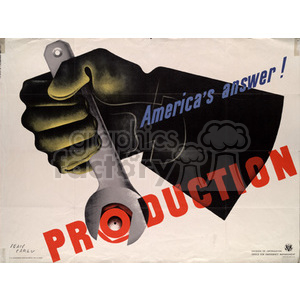 America's Answer: Production clipart. Royalty-free image # 152917