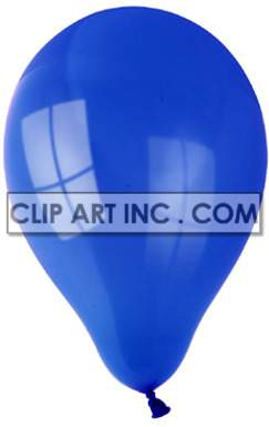 blue helium balloon  clipart. Royalty-free image # 177417