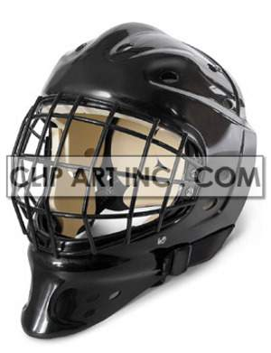 helmet goalkeeper sport ice hockey equipment game leisure recreation black  Photos Objects