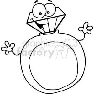 black and white gold ring clipart. Royalty-free image # 377894