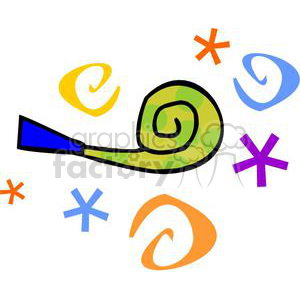 noise maker clipart. Commercial use image # 145227