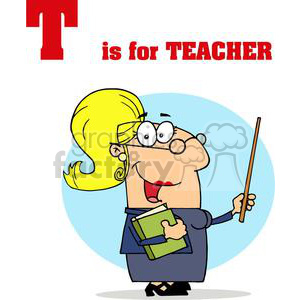 T as in Teacher clipart. Royalty-free image # 377943