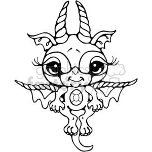 Bitty-Dragon clipart. Royalty-free image # 380199