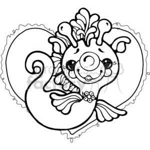 Seahorse Heart clipart. Royalty-free image # 380214