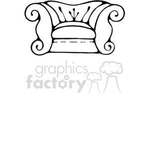 Sofa-Chair-1 clipart. Royalty-free image # 380239