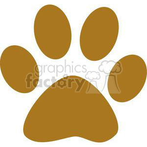 2772-Brown-Paw-Print clipart. Commercial use image # 380269