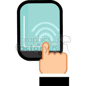 Ipad touch screen clipart. Royalty-free image # 380274