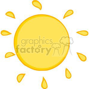 2737-Smiling-Sun-Cartoon-Character clipart. Commercial use image # 380374