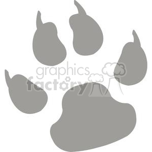 2775-Paw-Print-Gray-Silhouette clipart. Commercial use image # 380384