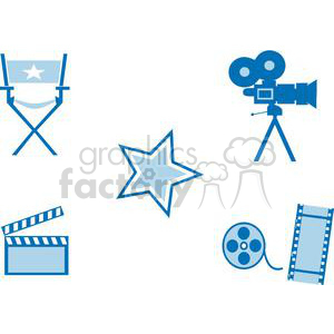 Movie set images clipart. Commercial use image # 380474