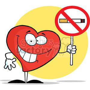 2915-Red-Heart-Holding-up-A-No-Smoking-Sign clipart. Royalty-free image # 380504