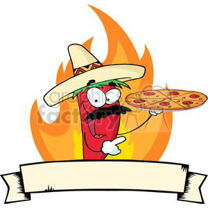 2896-Sombrero-Chile-Pepper-Holds-Up-Pizza-Banner