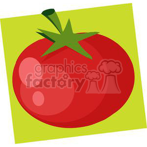 2886-Red-Tomato clipart. Commercial use image # 380529